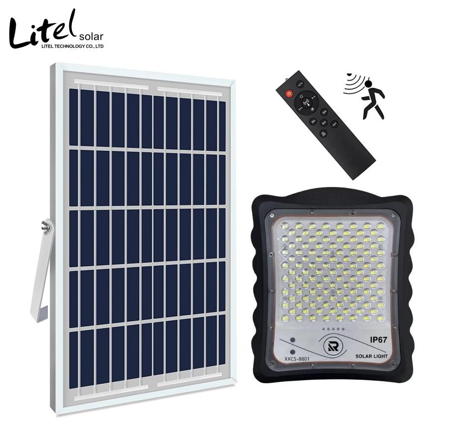 Solar Security Flood Lights Motion Sensor IP67 Waterproof with Remote Control