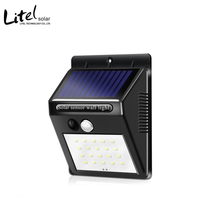 outdoor 20leds 30leds security Solar wall light with PIR Motion Sensor