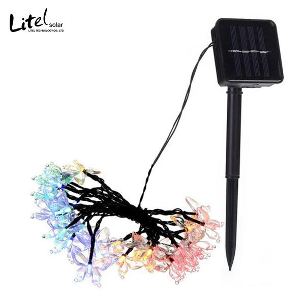 Solar Christmas String butterfly Lights Outdoor for Garden Fence Patio Yard Christmas Tree, Lawn, Patio, Party Decoration