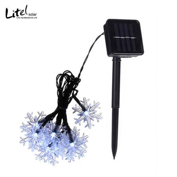 Snowflakes 100 LED Solar Christmas Lights Tree Decoration Fairy String