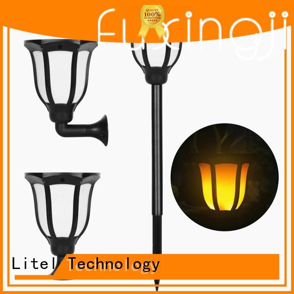 wireless solar led garden lights wireless flame for landing spot