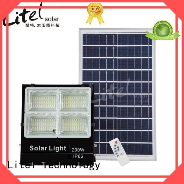 durable solar powered led flood light bulk production for garage Litel Technology
