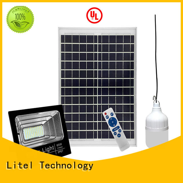 Litel Technology low cost solar led flood light by bulk for factory