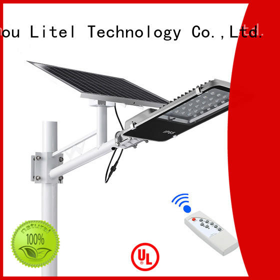 Litel Technology wireless solar panel street light custom for project