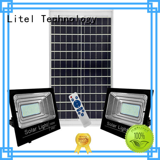 Litel Technology remote control solar led flood light by bulk for factory