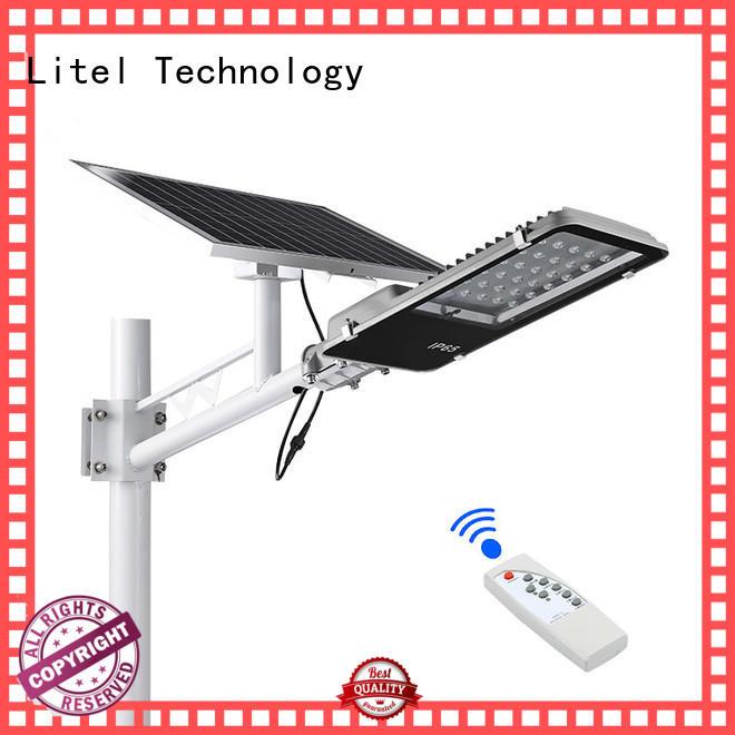 wall mounted 30w solar led street light custom for landing spot Litel Technology