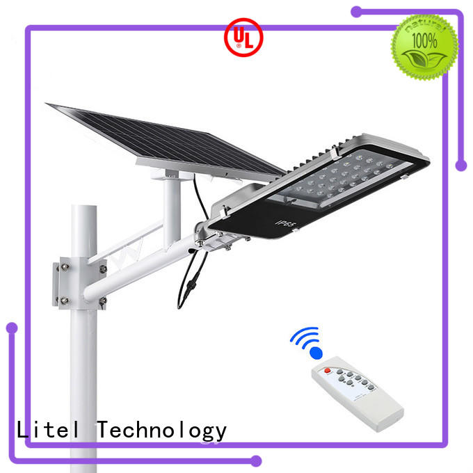 Litel Technology wireless solar street light project at discount for landscape