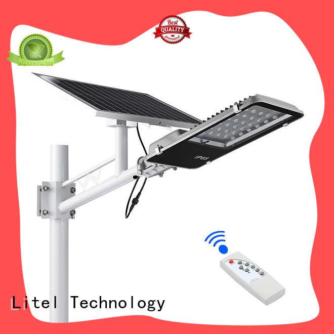 Litel Technology solar led street light fixture custom for street