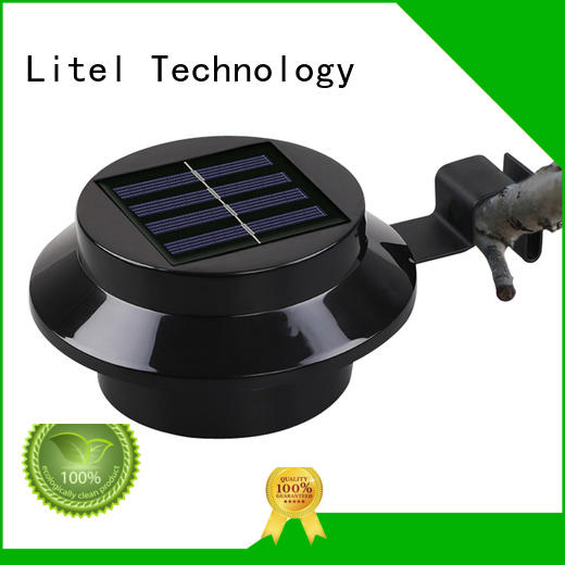 3 led solar powered fence garden wall light