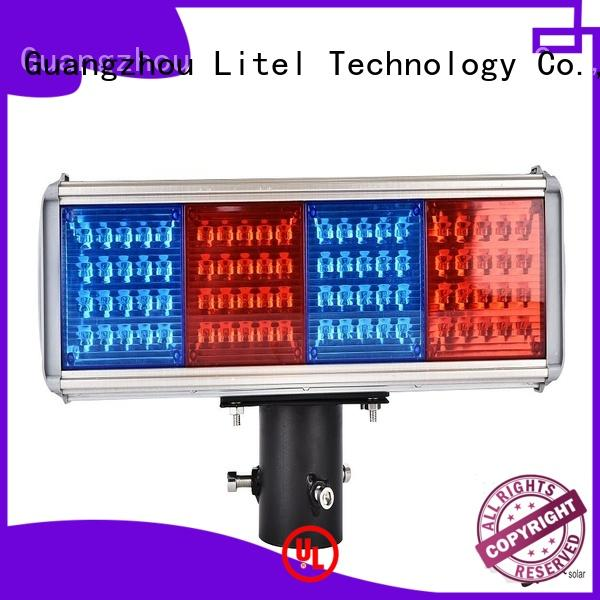 Litel Technology output solar powered traffic lights suppliers hot-sale for warning