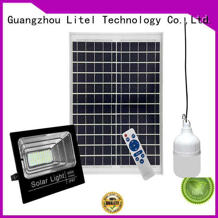 low cost solar powered motion flood lights remote control for warehouse Litel Technology