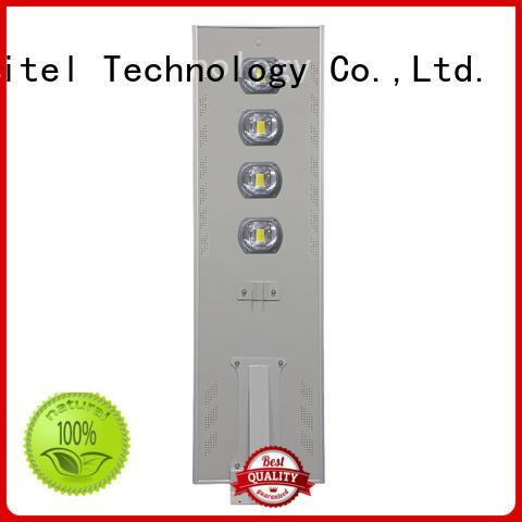 High lumen IP65 COB 40W  60W 80W 100w 120w aluminum housing all in one solar street light,customize acceptable