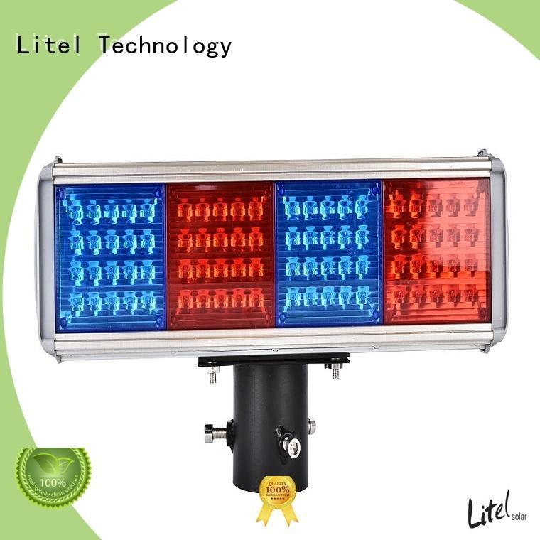 powered solar powered traffic lights suppliers led for alert Litel Technology
