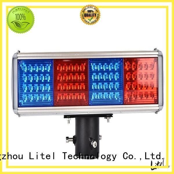 All in one LED Solar Powered Blinking emergency Traffic  Light