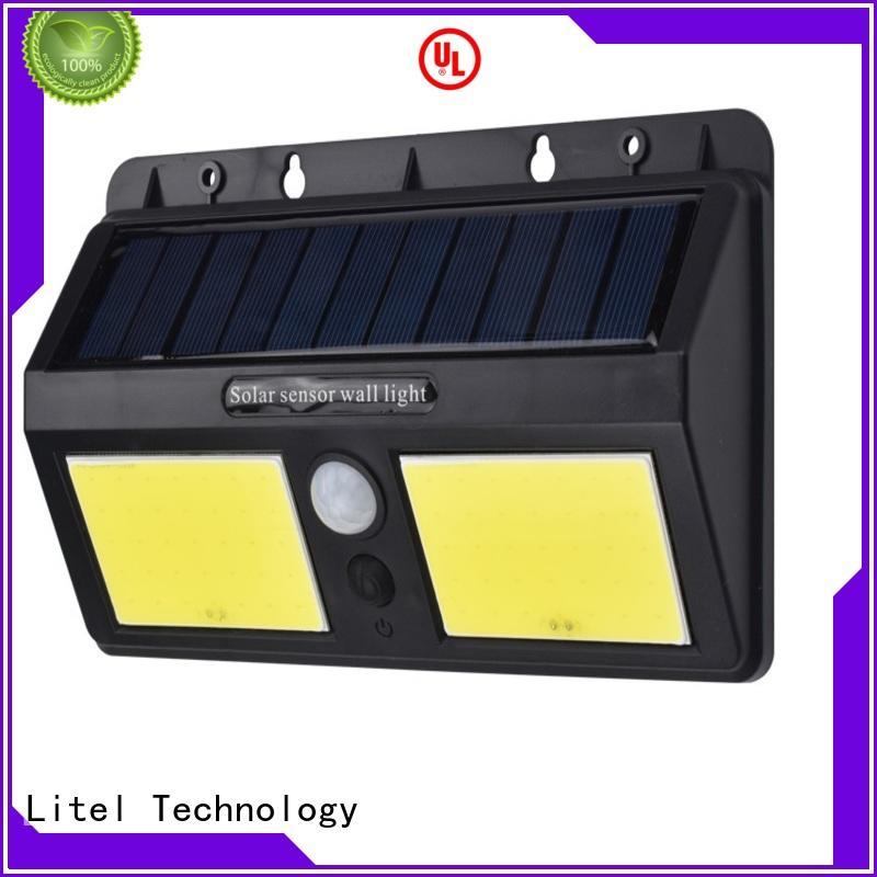Litel Technology motion solar garden wall lights for gutter
