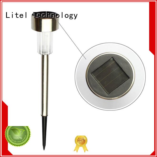 Litel Technology waterproof stainless steel solar garden lights step for garden