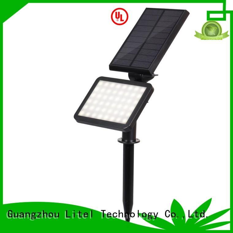 wireless solar panel garden lights porch abs for garden