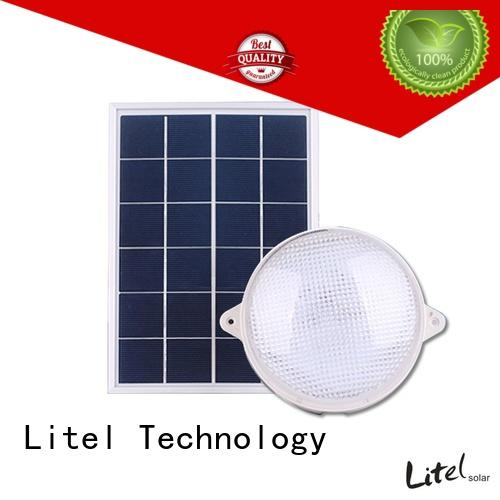 Litel Technology low cost solar powered ceiling light for warning