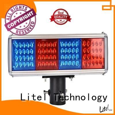 OBM solar panel traffic lights at discount for alert Litel Technology